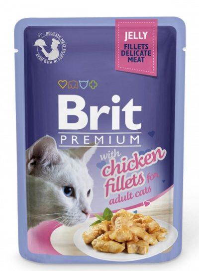 Brit Premium pouches Jelly Chicken τροφη φακελακι γατας κοτοπουλο σε ζελε