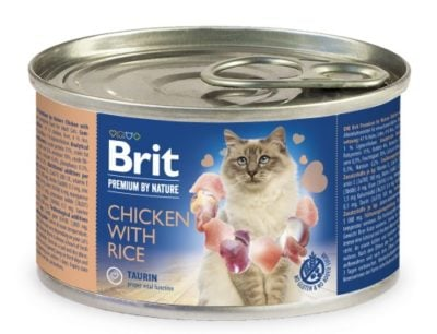 Brit Premium Chicken & Rice κονσερβα πατε για γατα υψηλης ποιοτητας με κοτοπουλο και ρυζι.