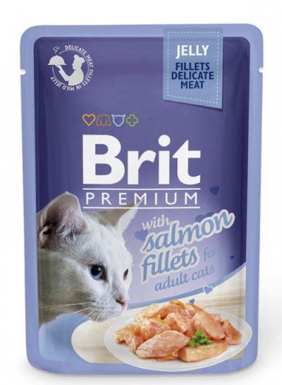 Brit Premium pouches Jelly Salmon τροφη φακελακια γατας σολομος σε ζελε