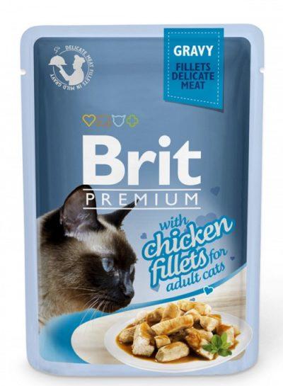 Brit Premium pouches Gravy Chicken φακελακια γατας κοτοπουλο