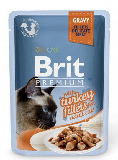 Brit Premium pouches Gravy Turkey φακελακια για γατες υγρη τροφη γαλοπουλα