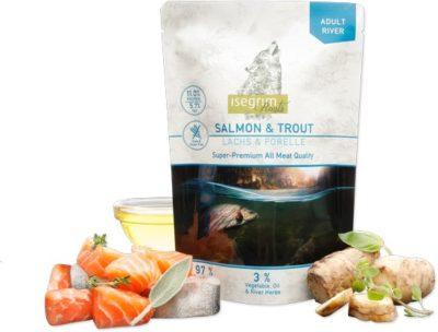 Isegrim Salmon Pouch υγρη τροφη σκυλου κονσερβα με σολομο Gluten Grain Free
