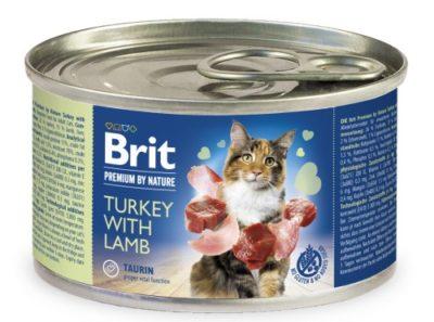 Brit Premium turkey lamp πατε κονσερβα γατας υψηλης ποιοτητας με γαλοπουλα αρνι.