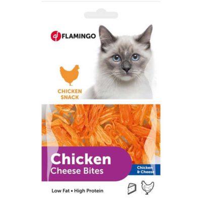 ΗFlamingo λιχουδια με κοτοπουλο γατας σνακ Chicken snack με χαμηλα λιπαρα