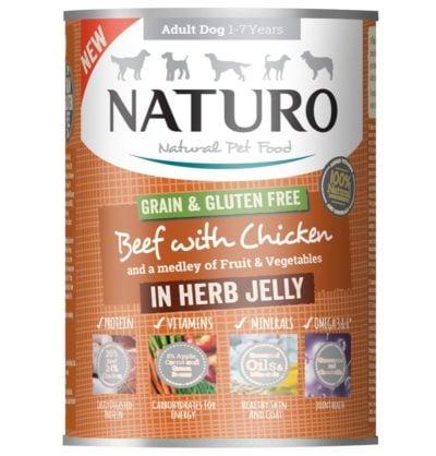 Naturo Beef για σκυλους κονσερβα Gluten Free με μοσχαρι και κοτοπουλο