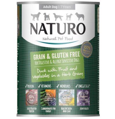 Naturo Duck σκυλου κονσερβα Gluten Grain Free με παπια