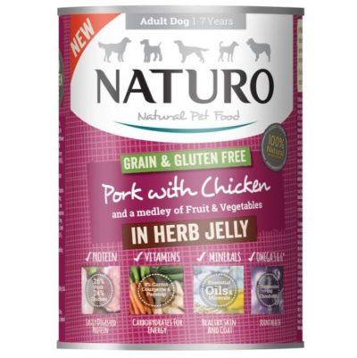 Naturo Pork για σκυλους κονσερβα Grain Free Gluten Free με χοιρινο και κοτοπουλο