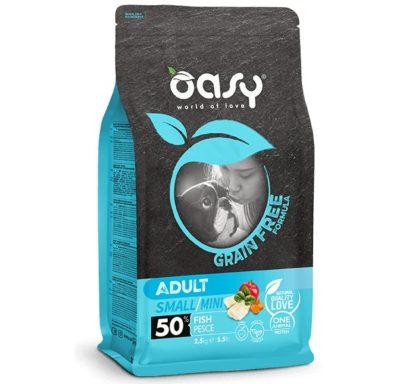 Oasy Grain Free τροφες σκυλου Adult Small με ψαρι