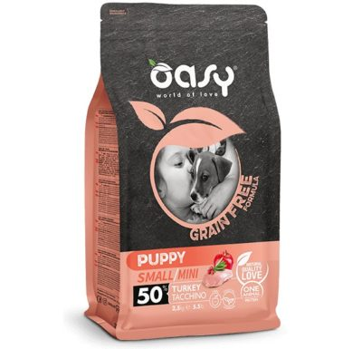 Oasy Grain Free Puppy Small για κουταβια μικρης φυλης τροφη με γαλοπουλα