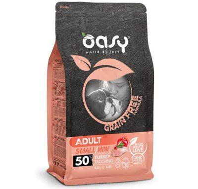 πρωτεΐνη Oasy Grain Free τροφη σκυλου Adult Small με γαλοπουλα