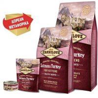 Carnilove γατας Salmon Turkey ολιστικη τροφη για γατακια Grain Free με σολομο και γαλοπουλα
