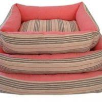 ΤαWoof Πουφ Λινα δροσερα κρεβατια για σκυλους για καλοκαιρι & γατες